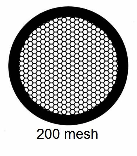 G200HEX-C3, 200 mesh, hexagonal, Cu, vial 100