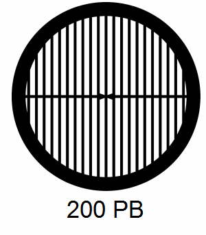 G200PB-CP3, 200 mesh, parallel, Cu/Pd, vial 100