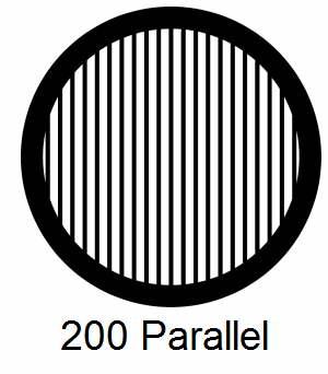 G200P-CP3, 200 mesh, parallel, Cu/Pd, vial 100
