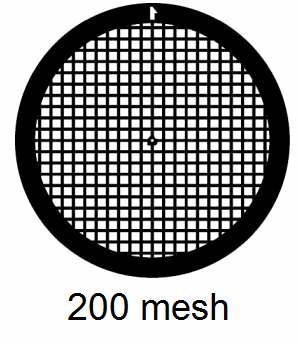 G200-M3, 200 mesh, square, Mo, vial 25