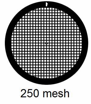 G250-C3, 250 mesh, square, Cu, vial 100