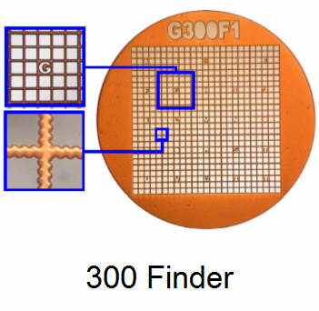 G300F1-G3, Finder grids, Au, vial 50