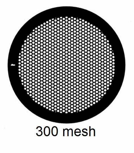 G300HEX-C3, 300 mesh, hexagonal, Cu, vial 100