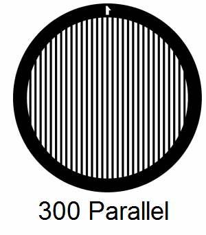 G300P-G3, 300 mesh, parallel, Au, vial 50