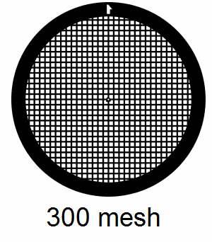 G300-G3, 300 mesh, square, Au, vial 50