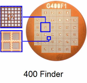 G400F1-G3, Finder grids, Au, vial 50