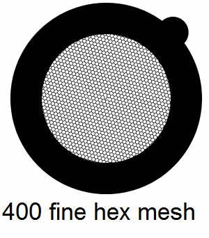 G400HH-G3, 400 fine hexagon mesh, Au, vial 50