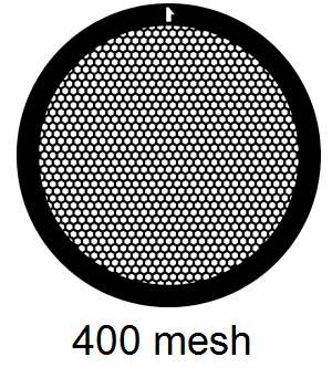 G400HEX-C3, 400 mesh, hexagonal, Cu, vial 100