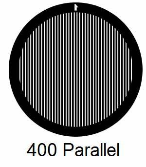 G400P-CP3, 400 mesh, parallel, Cu/Pd, vial 100