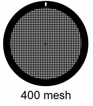 G400G3, 400 mesh, square, Au, vial 50
