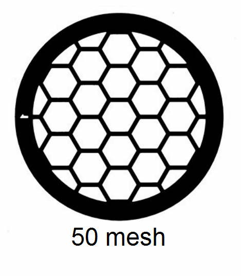 G50HEX-C3, 50 mesh, hexagonal, Cu, vial 100