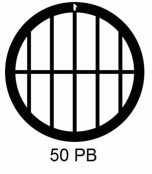 G50PB-CP3, 50 mesh, parallel, Cu/Pd, vial 100