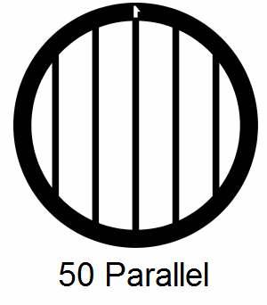 G50P-CP3, 50 mesh, parallel, Cu/Pd, vial 100