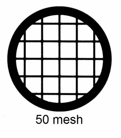 G50-C3, 50 mesh, square, Cu, vial 100