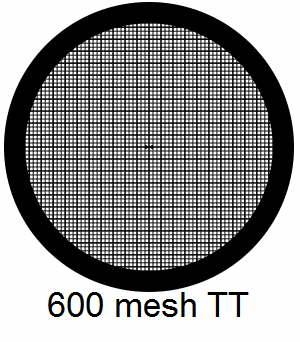 G600TT-G3, 600 mesh, square, Au, vial 50