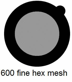 G600HH-G3, 600 fine hexagon mesh, Au, vial 50