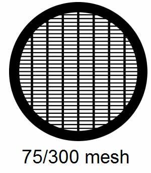 G75/300-G3, 75/300 mesh, parallel, Au, vial 50