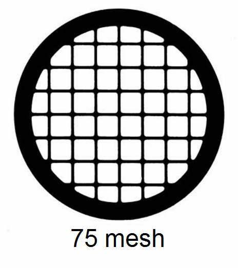 G75-G3, 75 mesh, square, Au, vial 50
