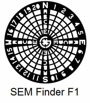 SEMF1-G, Finder grids, Au, vial 5
