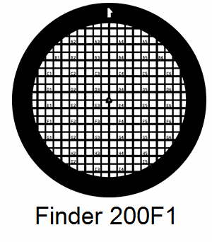 G200F1-G3, Finder grids, Au, vial 50