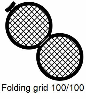 GD100/100-C3, Double folding grids, 100/100 mesh, Cu, vial 100
