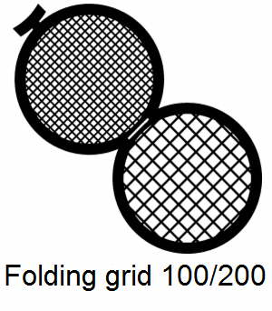 GD100/200-CP3, Double folding grids, 100/200 mesh, Cu/Pd, vial 100