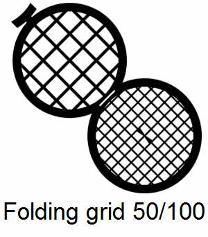 GD50/100-CP3, Double folding grids, 50/100 mesh, Cu/Pd, vial 100