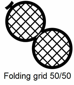 GD50/50-C3, Double folding grids, 50/50 mesh, Cu, vial 100