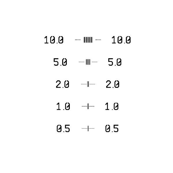 CD Calibration Specimen 0.5-10um GPTB Certified