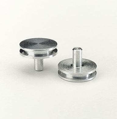 SEM Specimen Stubs 12.5mm dia 6mm pin Pk100