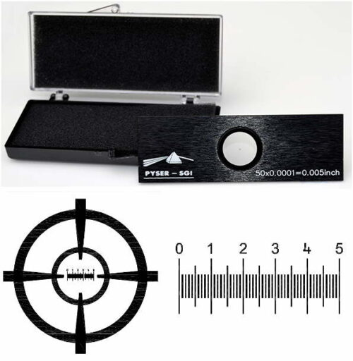 Stage Micrometer S11, 0.005inch in 0.0001inch divisions