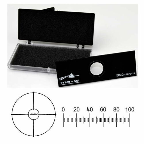 Micrometer Scale S12, 0.1mm in 0.002mm division