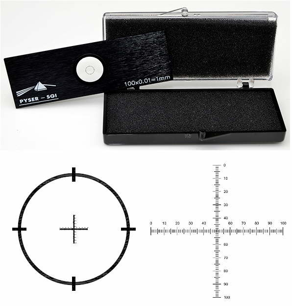 Crossed Micrometer Scales S16 1mm in 0.01mm divisions with UKAS
