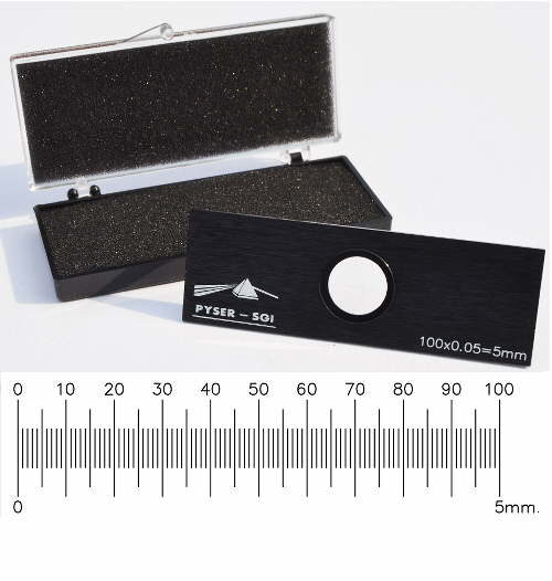 Stage Micrometer S2, 5mm in 0.05mm divisions with UKAS