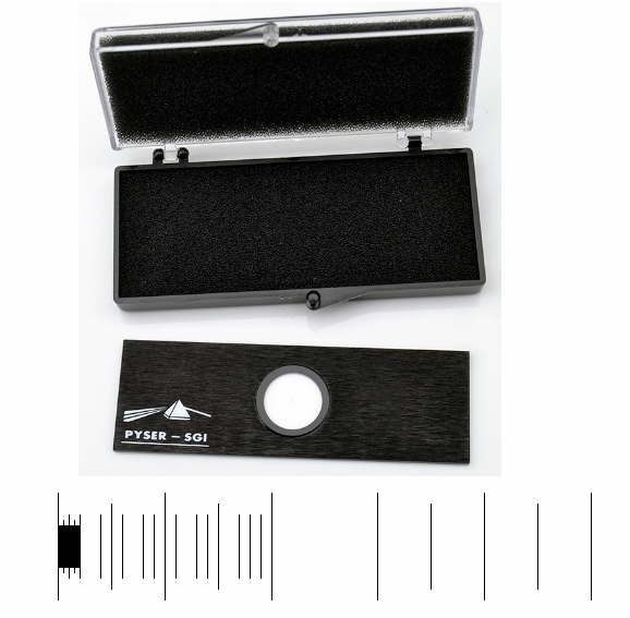 Micrometer Scale S21, 5mm/0.5mm, 2mm/0.1mm, 0.2mm/0.01